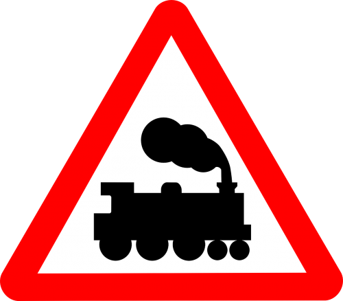 railway crossing traffic signs