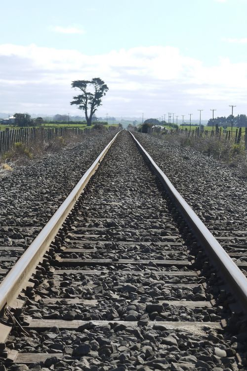 railway line landscape travel