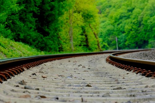 railway line  nature  railway