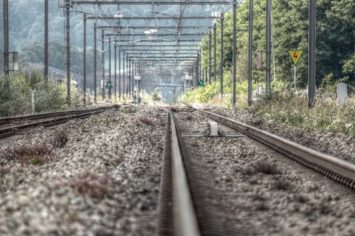 railway rails railway tracks gleise