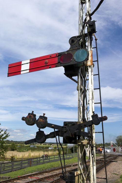 railway semaphore signal kent east sussex railway northiam station
