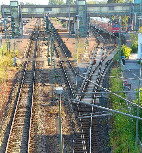 railway station gleise emden
