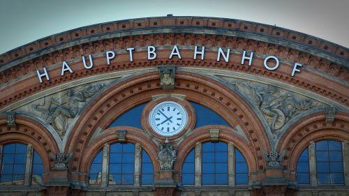 railway station clock window