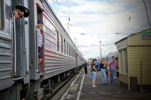 railway station trans-siberian railway