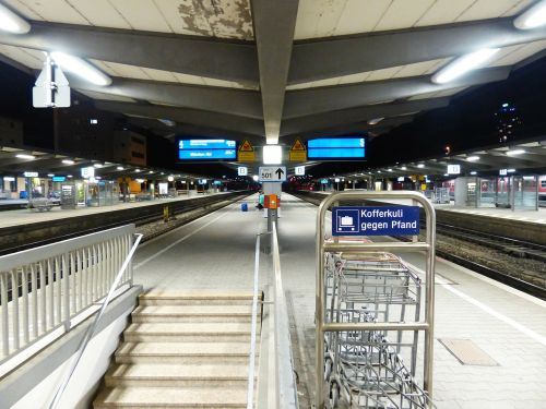 railway station platform train