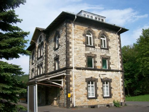railway station station building arzberg
