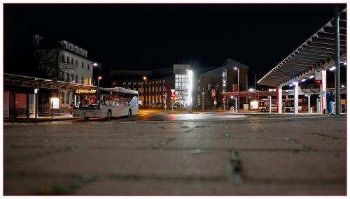railway station night bus