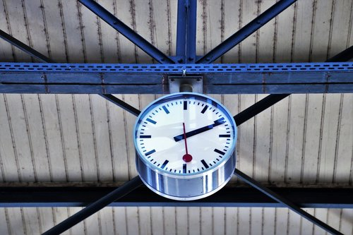 railway station  clock  business