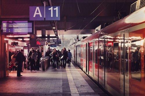 railway station  track  train