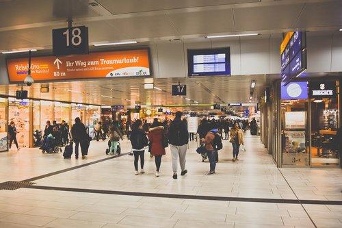 railway station  travellers  travel