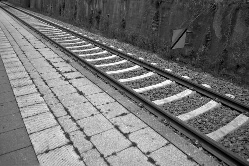railway station track seemed