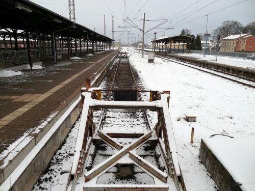 railway station seemed track
