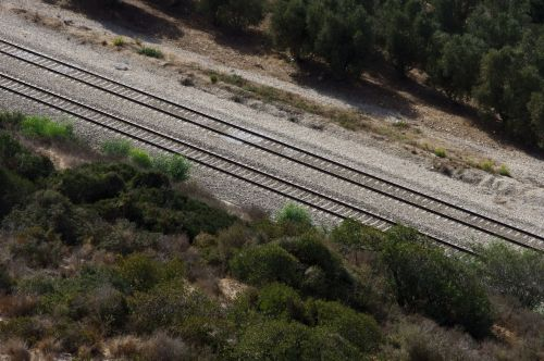 Railway Track From Above