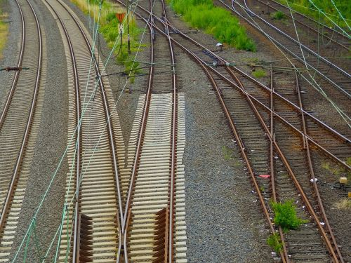 railway tracks railway rails gleise