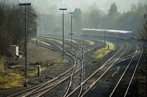 railways routes tracks sidings