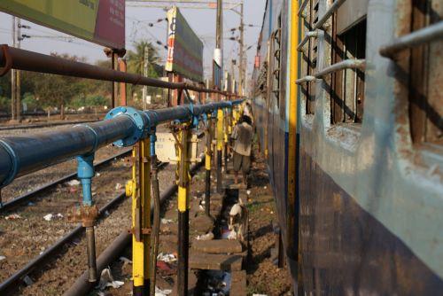 railways train tracks rail yard