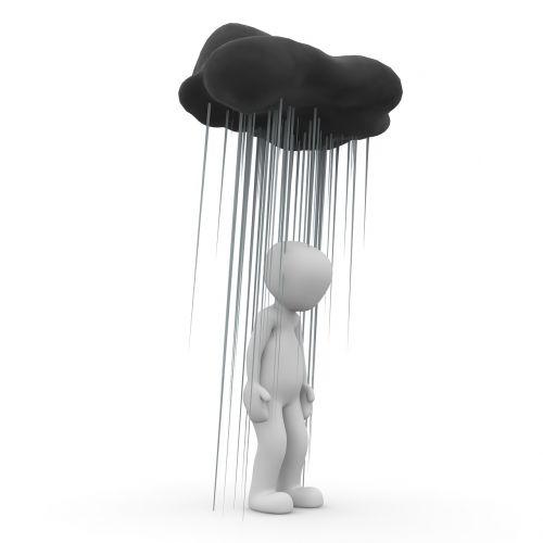 rain sad mourning