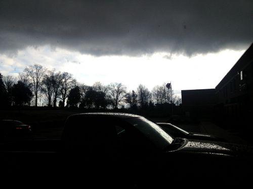 rain dark truck
