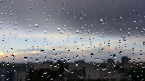 rain window view