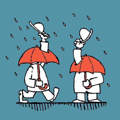 rain  umbrellas  hats