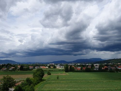rain front rain clouds rain