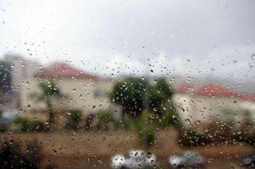 Rain View From Window