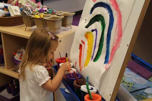 rainbow art paint