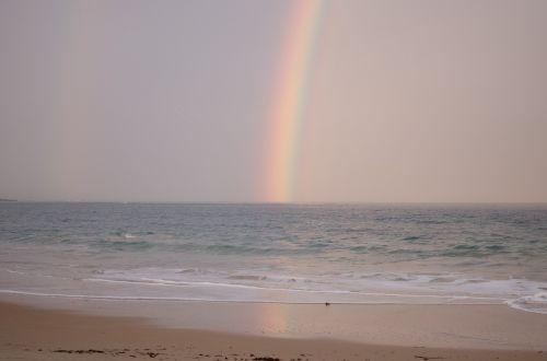 rainbow ocean soft pink