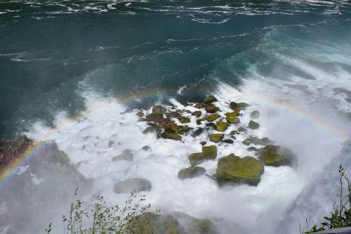 rainbow american falls niagara falls state park