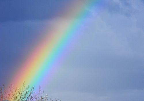 rainbow color sky