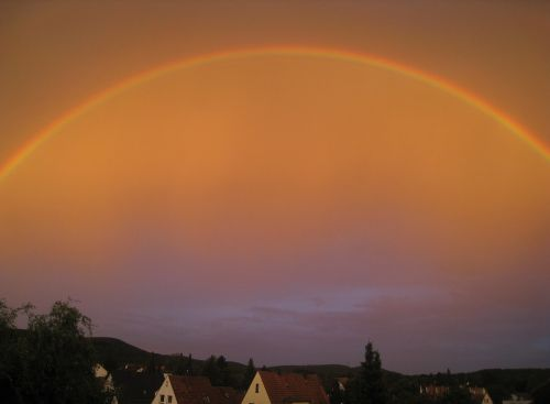 rainbow sky skies