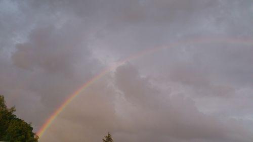 rainbow thunderstorm weather