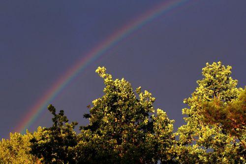 rainbow sky mood