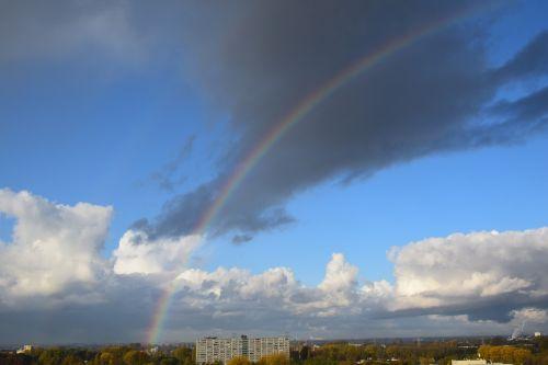 rainbow horizon view