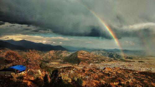 rainbow sunset drama