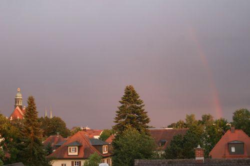 rainbow abendstimmung sky