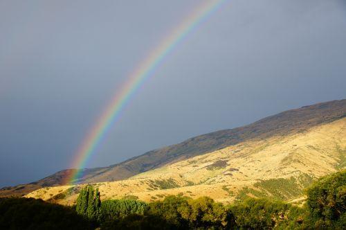vaivorykštė,Naujoji Zelandija,kalnas