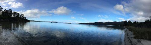 vaivorykštė,upė,Tasmanija,Dover,Kent paplūdimys,australia,vaizdingas,vanduo,ramus,vaizdingas