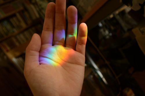 rainbow hand beautiful