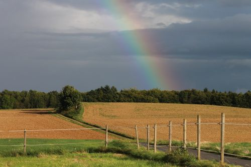 rainbow sky fields