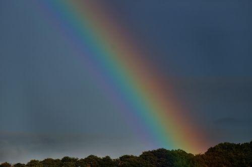 rainbow sky rain