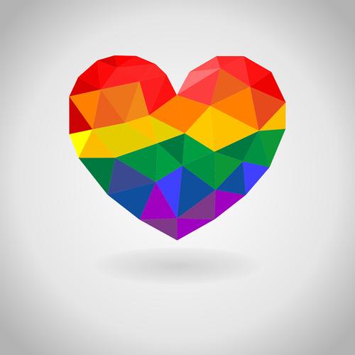 rainbow  heart  colorful