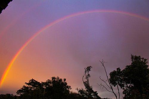 rainbow  arc  sky