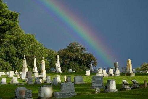 rainbow  cemetery  sky