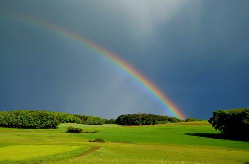 rainbow weather nature