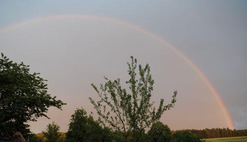 rainbow nature thunderstorm