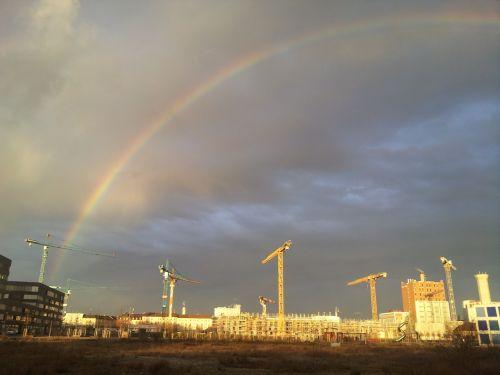 rainbow baukran thunderstorm