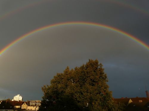 rainbow double rainbow mirroring