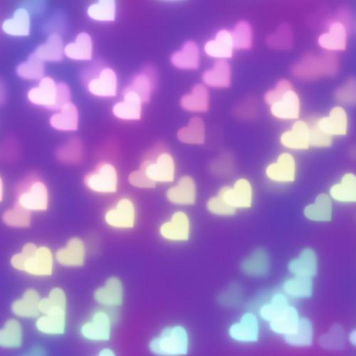 rainbow heart bokeh