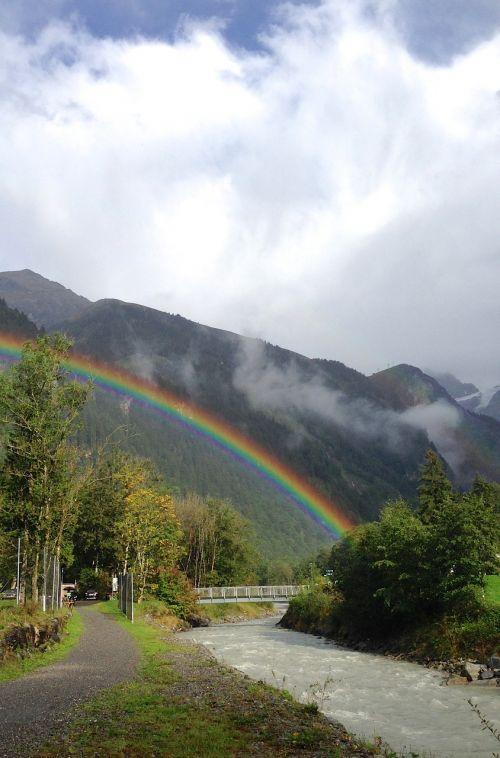 rainbow rain landscape